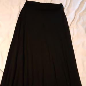 Gap Jet black maxi skirt size medium